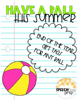 image regarding Have a Ball This Summer Printable called Comprise A Ball This Summertime Printable Tag Worksheets TpT