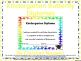End of The Year Kindergarten Butterfly Diploma, Certificat