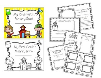 End of The Year Memory Book (Kindergarten & First Grade)