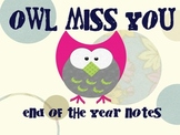 End of The Year Owl Notes
