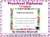 End of The Year Preschool Handprint Diploma, Certificate or Award