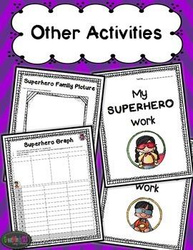 No-Prep Worksheets - Superhero Theme