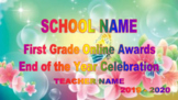 End of The Year Slideshow for Remote Learning - Memories and Awards-Spring Theme
