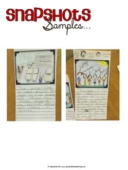 End of The Year Snapshots Activity -  Writing and Art
