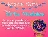 End of The Year Spanish Awards Certificates (personality traits)