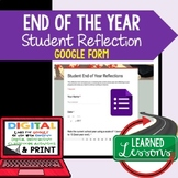 End of Year Student Reflection Survey, Google Form