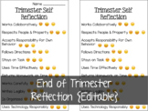 End of Trimester Emoji Reflections {Editable}