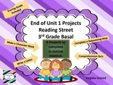 End of Unit 1 Projects---Reading Street---Third Grade