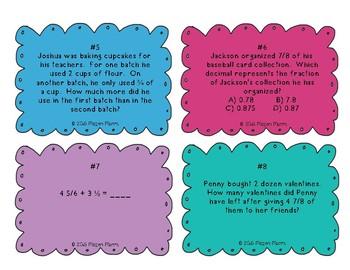 End of Unit Fraction Task Cards