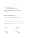 End of Unit Nouns Test