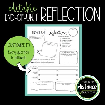 End of Unit Reflection