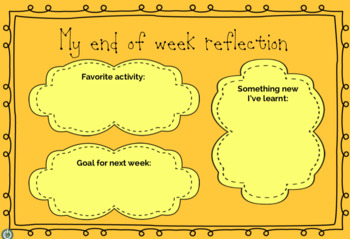 End of Week Reflection