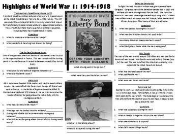 End of World War 1