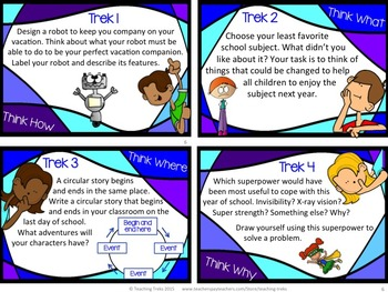 End of Year Fun Activities Task Cards