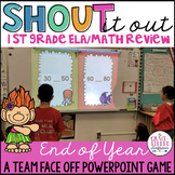 End of Year 1st Grade ELA and Math Review (PowerPoint Game)