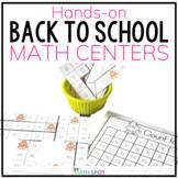 Back to School 1st Grade Math Centers