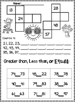 End of Year 1st Grade Math Review BUNDLE