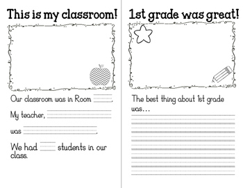 End of Year 1st Grade Reflection Journal
