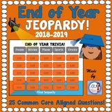 End of Year 2018 Interactive Trivia Jeopardy Game (3rd-6th grades)