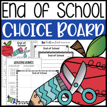 End of Year Choice Board