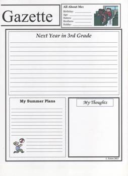 End of Year 2nd Grade Newspaper