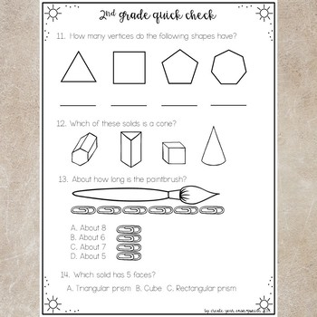 End of Year 2nd grade worksheets