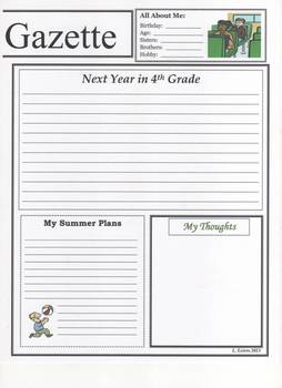 End of Year 3rd Grade Newspaper