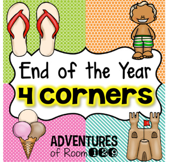 End of Year 4 Corner Game - Editable -