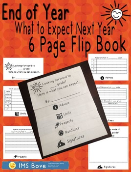 End of Year 6 Page Flip Book ANY GRADE!
