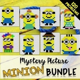 End of Year 6th Grade Review Bundle: Mystery Pictures (Minions)