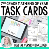 End of Year 7th Grade Math Task Cards