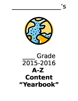 """End of Year A-Z Content """"Yearbook"""""""