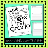 End of Year Activity ABC Memory Book
