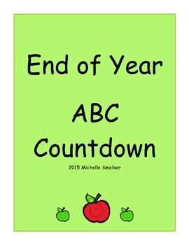 End of Year ABC Coundown Calendar
