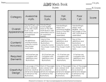 End of Year ABC Math Book