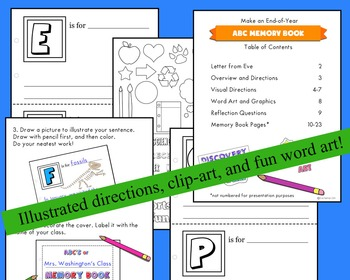 End-of-Year ABC Memory Book (Great for All Grades!)