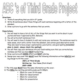 End of Year ABC's of Third Grade