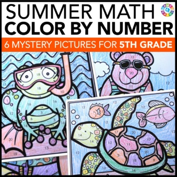 5th grade math review 5th grade end of the year activities color by number. Black Bedroom Furniture Sets. Home Design Ideas