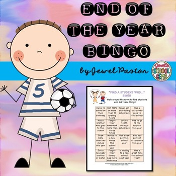 End of the Year Activities Bingo