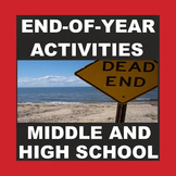 END OF THE YEAR ACTIVITIES - No prep - Print and Go!
