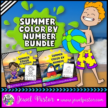 Summer Color By Number Pages BUNDLE