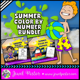 Summer Color By Number Pages BUNDLE