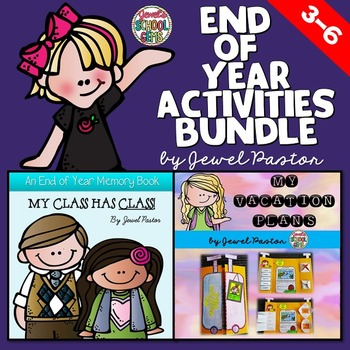 End of Year Activities BUNDLE (Memory Book and Country Research Lapbook)