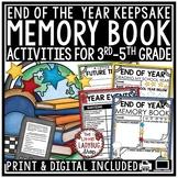 Digital Virtual Memory Book End of Year Writing Activities 3rd, 4th, 5th Grade