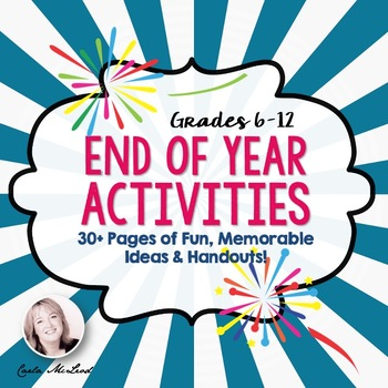 End of Year Activities: 30+ Pages of Fun, Memorable Activi