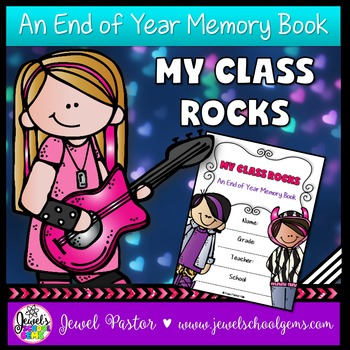 End of Year Rock Star Theme Memory Book Activities