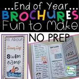 End of Year Activities ~ 3 FUN to Make Brochures ~ Last Week of School Activity