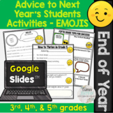 End of Year Activities: Advice to Next Year's Students for Google Slides™ EMOJIS