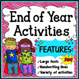 K-1 End of Year Activities Packet