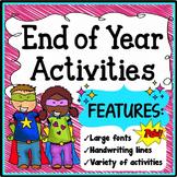 End of the Year Activities Kindergarten